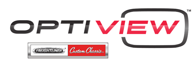 Optiview by Freightliner Custom Chassis logo